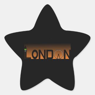 Pegatina En Forma De Estrella Horizonte de Londres