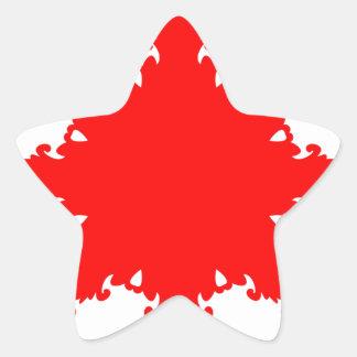 Pegatina En Forma De Estrella Impresión circular roja