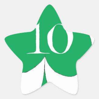 Pegatina En Forma De Estrella Irlandés afortunado 10 de los clubs, fernandes