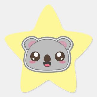 Pegatina En Forma De Estrella Kawaii, la diversión y la koala divertida