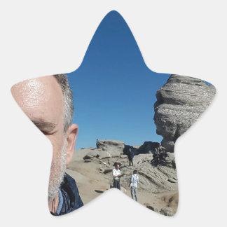 Pegatina En Forma De Estrella La esfinge, montañas de Bucegi, Rumania (diseño