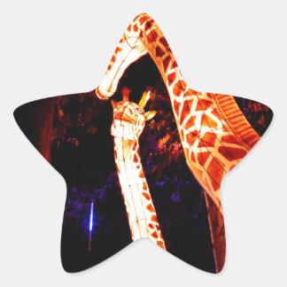 Pegatina En Forma De Estrella La jirafa enciende para arriba arte del festival