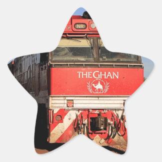 Pegatina En Forma De Estrella La locomotora del tren de Ghan, Darwin