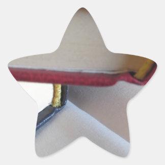 Pegatina En Forma De Estrella La segunda mano reserva con las páginas en blanco