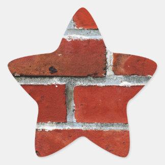Pegatina En Forma De Estrella Ladrillos