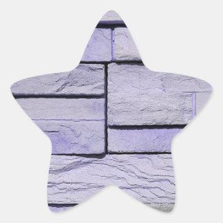 Pegatina En Forma De Estrella Ladrillos apilados lavanda moderna enrrollada
