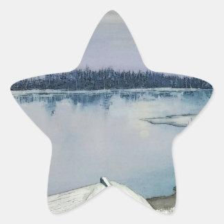 Pegatina En Forma De Estrella Lago forest