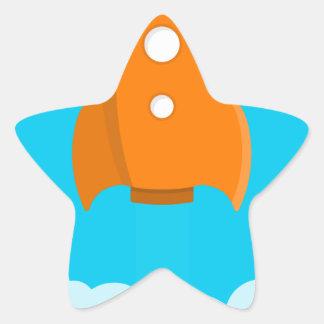 Pegatina En Forma De Estrella Lanzamiento de la nave de Rocket