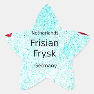 Pegatina En Forma De Estrella Lengua del Frisian (Alemania y Países Bajos)