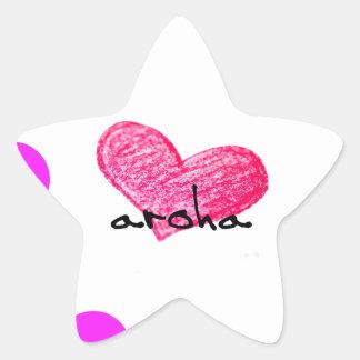 Pegatina En Forma De Estrella Lengua maorí del diseño del amor