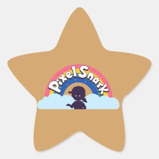 Pegatina En Forma De Estrella Logotipo de PixelSnark