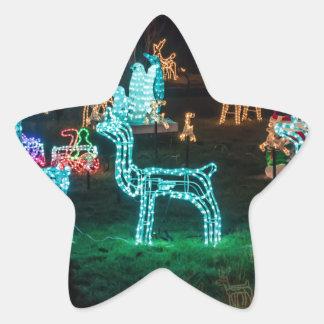 Pegatina En Forma De Estrella luces de navidad