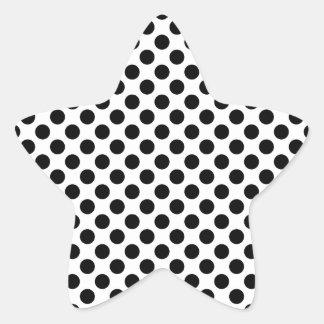 Pegatina En Forma De Estrella Lunares negros