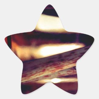 Pegatina En Forma De Estrella Macro abstracta