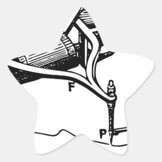 Pegatina En Forma De Estrella Mano que repara el viejo dispositivo