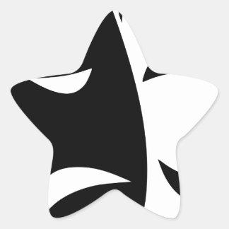 Pegatina En Forma De Estrella Máscara de la comedia y de la tragedia