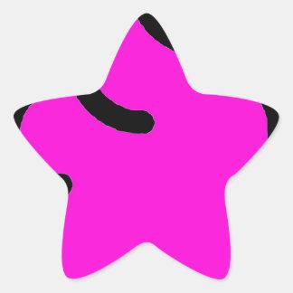 Pegatina En Forma De Estrella Merda Fluorescente