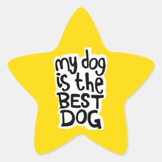 Pegatina En Forma De Estrella Mi perro es los mejores pegatinas del perro