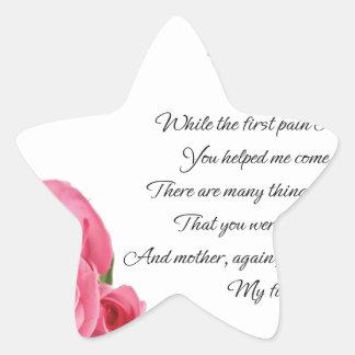 Pegatina En Forma De Estrella Mi primer arte de la poesía del amor de Stanley