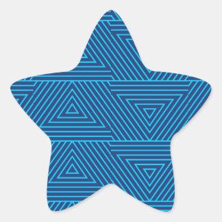 Pegatina En Forma De Estrella modelo azul del triángulo