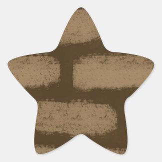 Pegatina En Forma De Estrella Modelo de los ladrillos de Brown