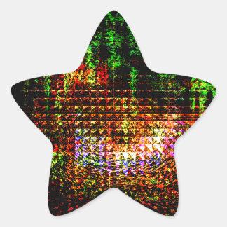 Pegatina En Forma De Estrella modelo del caleidoscopio del radar