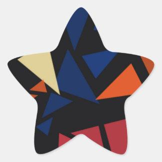 Pegatina En Forma De Estrella Modelo geométrico colorido