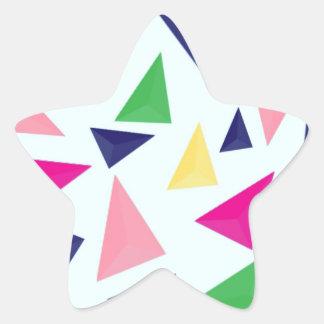 Pegatina En Forma De Estrella Modelo geométrico colorido II