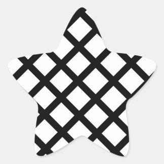 Pegatina En Forma De Estrella Modelo simple blanco y negro