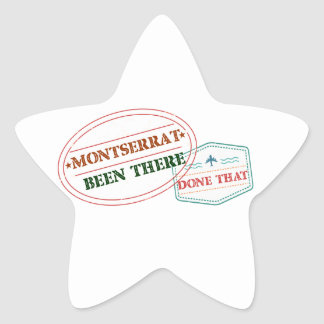 Pegatina En Forma De Estrella Montserrat allí hecho eso