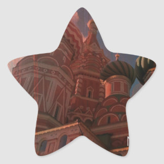 Pegatina En Forma De Estrella Moscow_russia