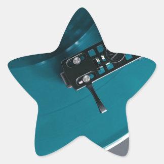 Pegatina En Forma De Estrella Música del álbum de disco de vinilo de la placa