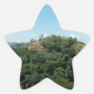 Pegatina En Forma De Estrella Naturaleza