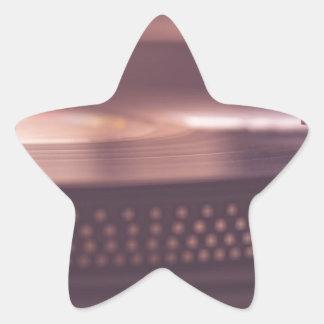 Pegatina En Forma De Estrella Negro del equipo del vinilo del expediente de la