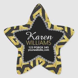 Pegatina En Forma De Estrella Negro+Pegatinas conocidos de encargo de la
