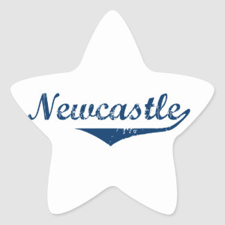 Pegatina En Forma De Estrella Newcastle