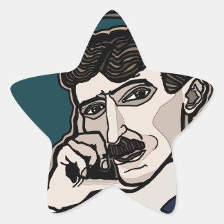Pegatina En Forma De Estrella NikolaTesla