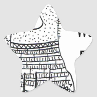 Pegatina En Forma De Estrella No despierte el oso