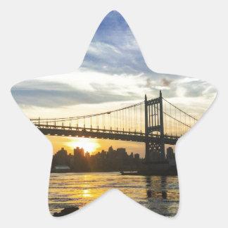 Pegatina En Forma De Estrella Nueva York