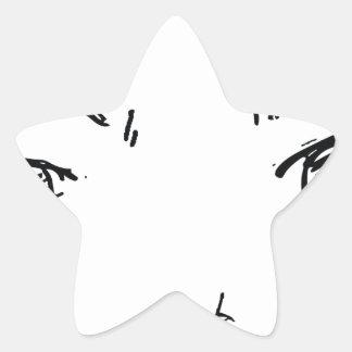 Pegatina En Forma De Estrella Ojos enojados 1
