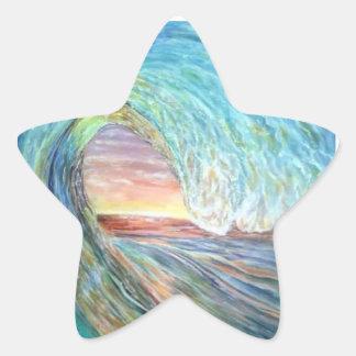 Pegatina En Forma De Estrella onda de la playa