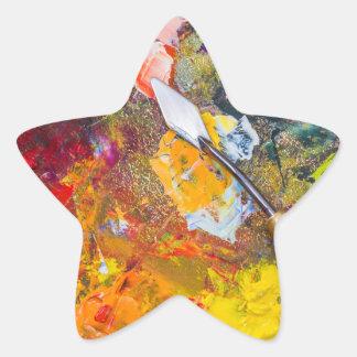 Pegatina En Forma De Estrella Paleta