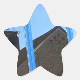 Pegatina En Forma De Estrella Paleta de viento en la ventana