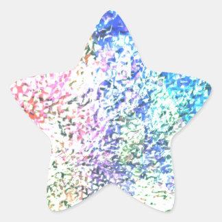 Pegatina En Forma De Estrella Para el amor del color - pastel del caleidoscopio