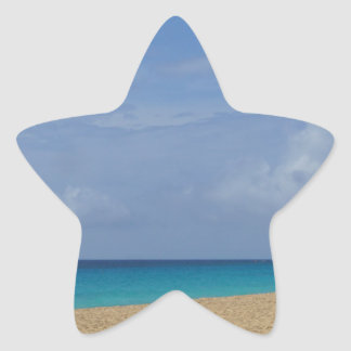 Pegatina En Forma De Estrella paraíso tropical