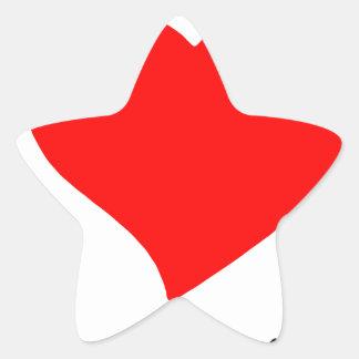 Pegatina En Forma De Estrella paz love5
