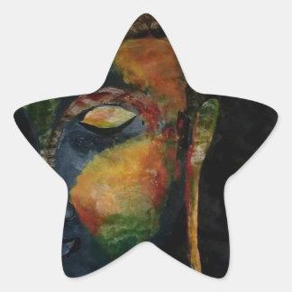 Pegatina En Forma De Estrella Pegatinas de Budha