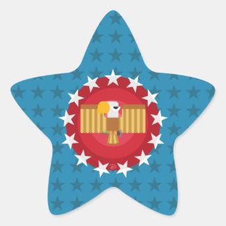 Pegatina En Forma De Estrella Pegatinas de la estrella de Eagle de la libertad