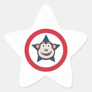 Pegatina En Forma De Estrella Pegatinas estupendos del mono (estrellas)