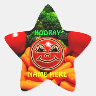 Pegatina En Forma De Estrella Pegatinas vegetales para los niños, consumición
